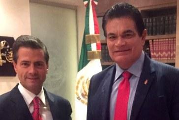 Peña Nieto y Malova en los Pinos