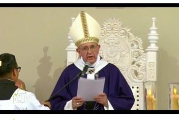 Saludo del Papa Francisco Al final de la misa en Ciudad Juárez