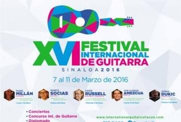 XVI Festival Internacional de Guitarra Sinaloa 2016.