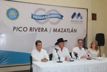 Firman Convenio de Hermanamiento Pico Rivera y Mazatlán
