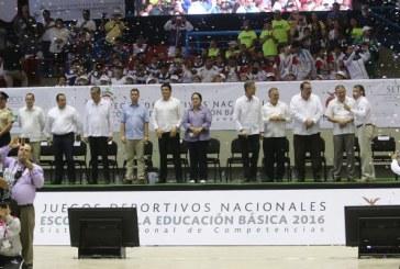 Inauguran los Juegos Deportivos Nacionales Escolares de la Educación Básica 2016