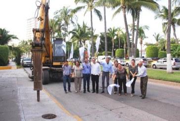 <center>Más Obras de Embellecimiento en Zona Dorada de Mazatlán 2016</center>