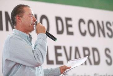Quirino Ordaz inicia construcción de bulevar salida a Imala