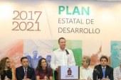 Expone gobernador Plan Estatal de Desarrollo.