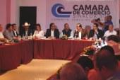 <center>Fernando Pucheta, Alcalde de Mazatlán, es reconocido por órganos empresariales de Mazatlán</center>
