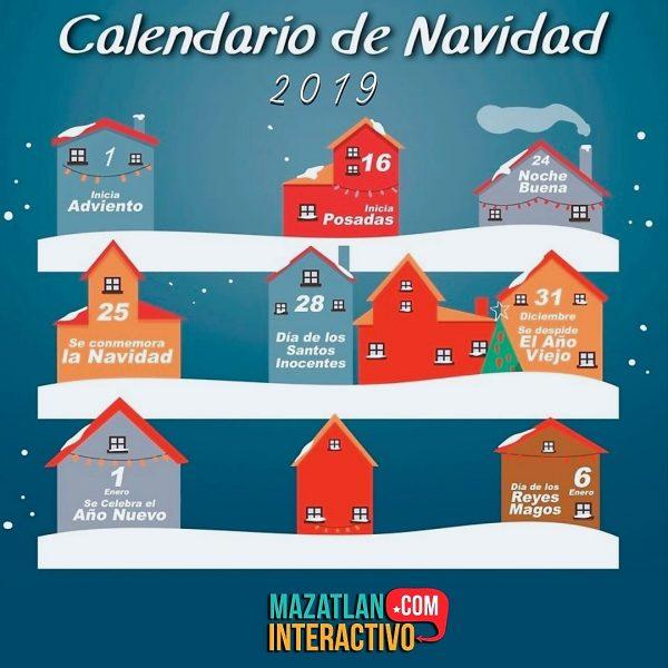 calendario Navidad 2019