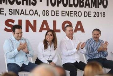 Quirino entrega primera etapa de la carretera Los Mochis–Topolobampo