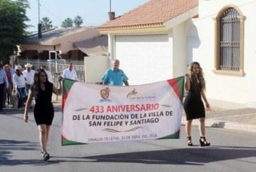 Celebran 433 aniversario de la fundación de la Villa de San Felipe y Santiago
