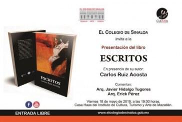 Presentación del libroESCRITOS