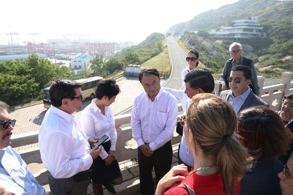 Puerto de Shanghai China Visita Delegación Sinaloanse Mayo de 2018 1