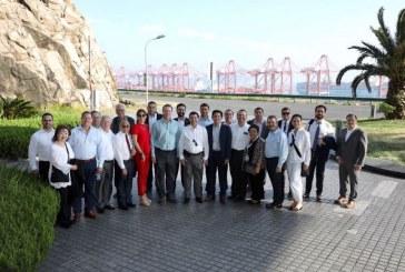 <center>En el puerto de Shanghai la misión comercial sinaloense</center>