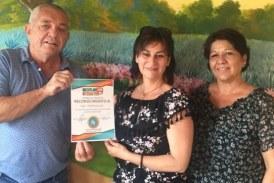 <center>Tatiana Genoud de Hotel Las 7 Maravillas recibe el distintivo ETR de Mazatlán Interactivo</center>