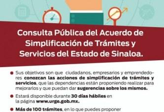 A consulta pública 128 trámites de 41 dependencias