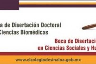 Colegio de Sinaloa otorga las becas de disertación doctoral 2018