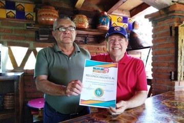 <center>Marcos Osuna recibe el Distintivo ETR por el Proyecto Turístico Integral: El Quelite</center>