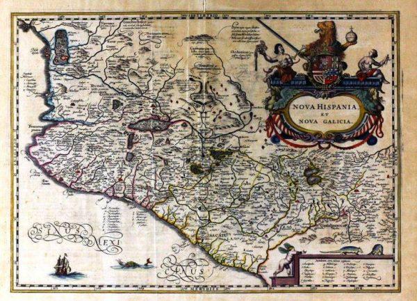 mapa 1653 nueva galicia