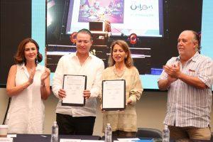6 Ago 18 Firma de Convenio con Unesco Ciudad Creativa en Gastronomia Mazatlán JPG