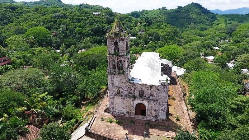Cópala Pueblo Señorial Concordia Sinalao México Zona Trópico Templo Dron 2018