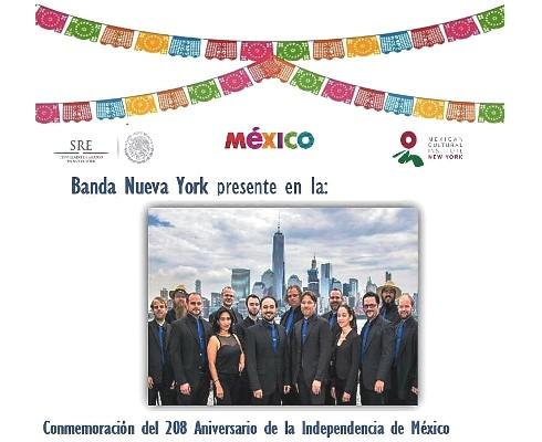 New York Grito Independencia 2018 Banda New York Consulado General México 1