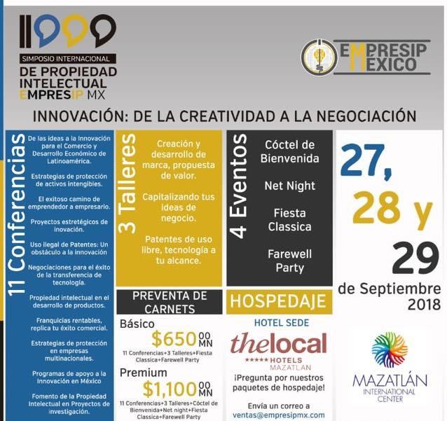 simposio internacional propiedad intelectual Mazatlán