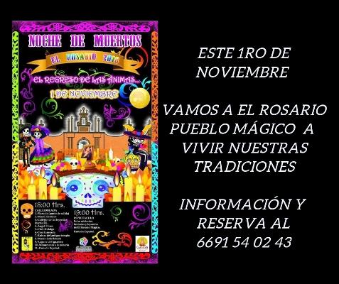Paquete Día de Muertos El Rosario Pueblo Mágico 2018