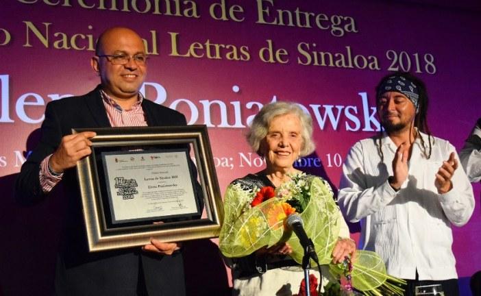 Recibe Elena Poniatowska el PremioNacional Letras de Sinaloa 2018