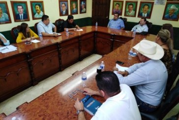 El presidente municipal, Iván Ernesto Báez Martínez sostuvo una reunión con los integrantes de su gabinete