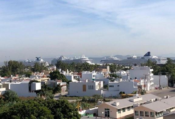 Llegaron a Mazatlán de nuevo tres cruceros turísticos con 12,883 visitantes