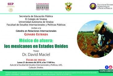 David Maciel ofrecerá Cátedra en Relaciones Internacionales