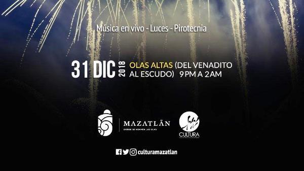 Recibimiento del Año Nuevo en Mazatlán en Olas Altas 2018 1