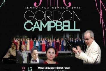 """Gordon Campbell presenta segundo concierto de """"El Mesías"""" en el Teatro Ángela Peralta"""