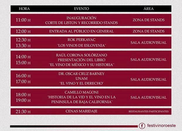 Festival del Vino del Noroeste Mazatlán 2019 Programa c