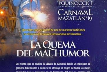 Invitacíon por parte e Cultura Mazatlán para nominar al personaje para la quema del Mal Humor