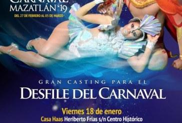 Casting para Desfile de Carros Alegóricos en Mazatlán