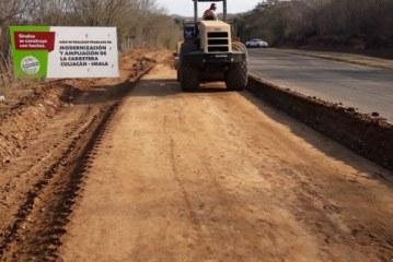 Carretera Culiacán- IMALA registra un avance considerable