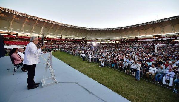 AMLO en Mazatlán Estadio Teodoro Mariscal Febrero 2019 2019
