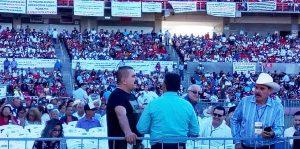 AMLO en el estadio Teodoro Mariscal de Mazatlàn Febrero de 2019