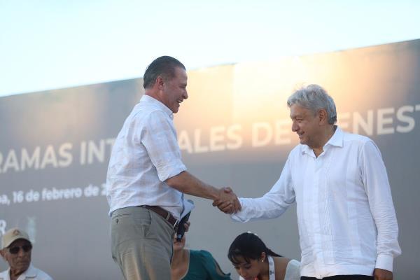 AMLO y Quirino Ordaz en Mazatlán Estadio Teodoro Mariscal Febrero 2019 4