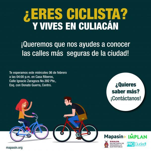 Calles ciclistas_Convocatoria para ciclistas
