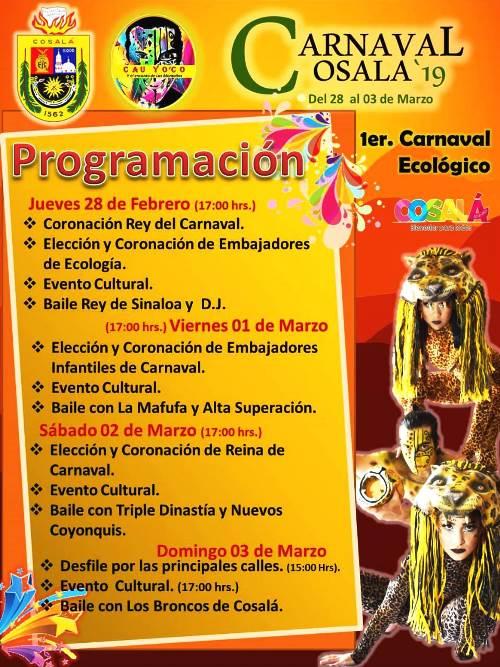 Carenaval de Cosalá Pueblo Mágico Programa 2019