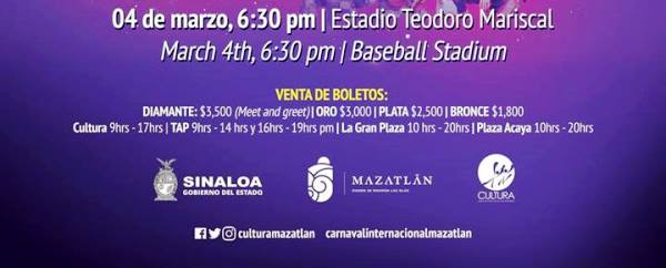 Cprpnación Reina Infantil Carnaval Internacional de Mazatlán 2019