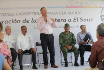 Inauguran Carretera Culiacán-El Sauz