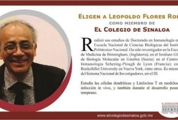 Eligen a Romo como miembro de El Colegio de Sinaloa
