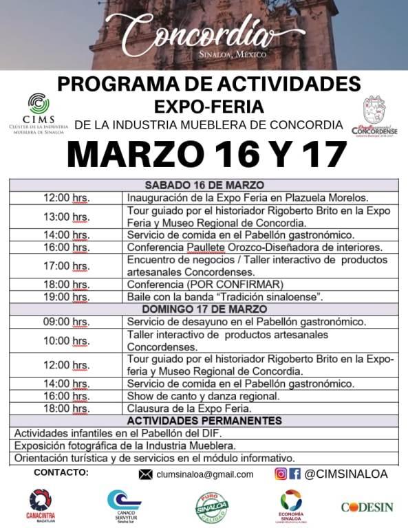 Expo Feria Mueblera Concoria 2019 Programa de Actividades b