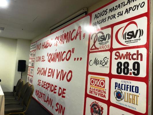 Felipe Silva Conferencia de Prensa Despedida de Mazatlán ante temoR al Alcade Benítez Torres 2019 MIC 1