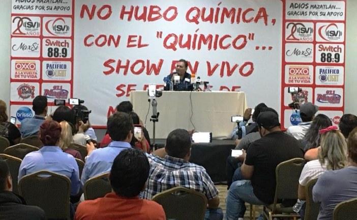 Actitudes del Químico Benítez obligan a empresario de espectáculos a irse de Mazatlán