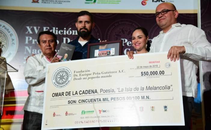 Sinaloa es un estado de premios literarios, afirma Papik Ramírez Bernal