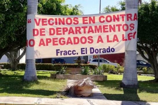 Vecinos de los Fraccionamientos El Dorado y Gaviotas en Mazatlán exigen al ayuntamiento respeto a la ley y a los ciudadanos