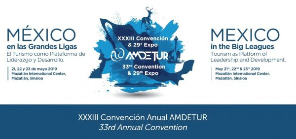 amdetur XXXIII Convención Logo 2019 a