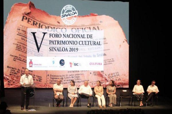 """V Foro Nacional de Patrimonio Cultural Sinaloa 2019, con el tema """"Los archivos, patrimonio y memoria de la Nación"""